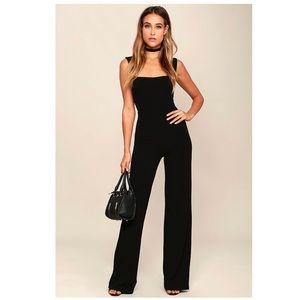Lulu's black jumpsuit size XS